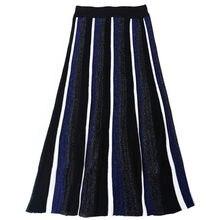 ebeedc87925 SRUILEE подиумная блестящая Юбка Лолита Женская юбка пачка Bling полосатая  разноцветная вязаная юбка люрекс эластичная талия