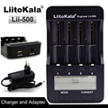 Liitokala lii500 LCD 3.7V/1.2V AA/AAA 18650/26650/16340/14500/10440/18500 Battery Charger with screen+12V 2A Adapter USB 5V1A