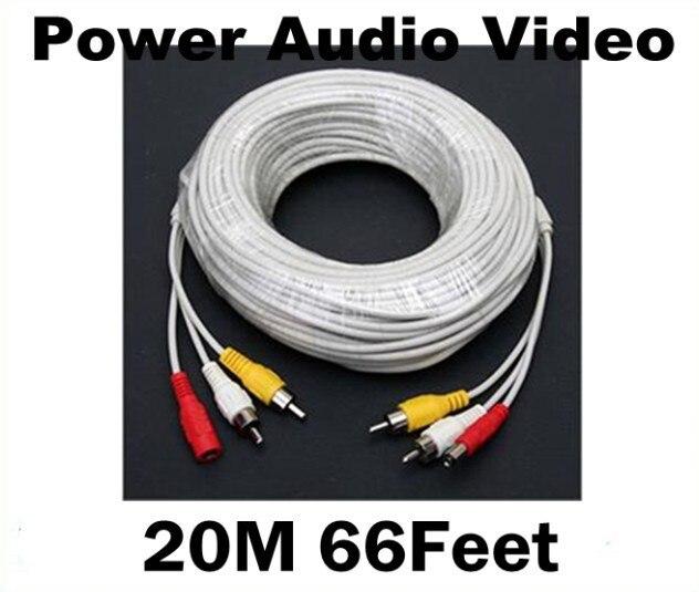 bilder für 20 Mt 66 Füße RCA Power Audio Video AV Dc-kabel Für CCTV Überwachungskamera DVR Kostenloser Versand