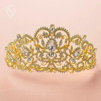 CLEARANCE SALE Royal Crystal Crown Queen Tiara Bridal Headpieces Women Hair Jewelry Accessories For Wedding Pageant