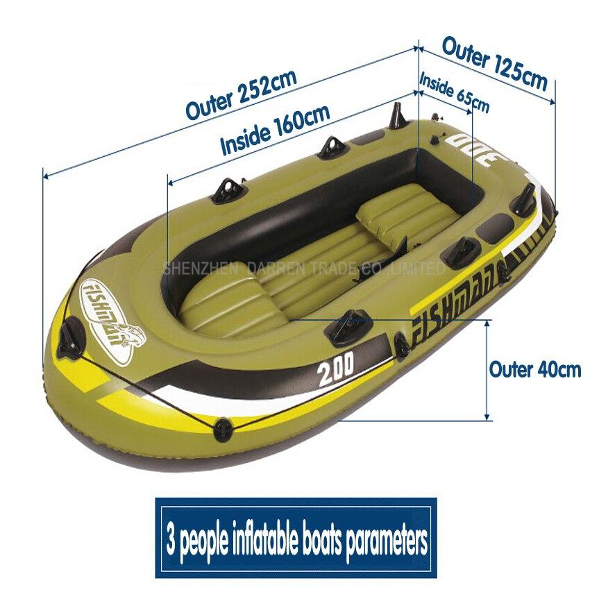 1 PC 3 személy kajak vastag gumi csónak felfújható csónak - Vízi sportok - Fénykép 2