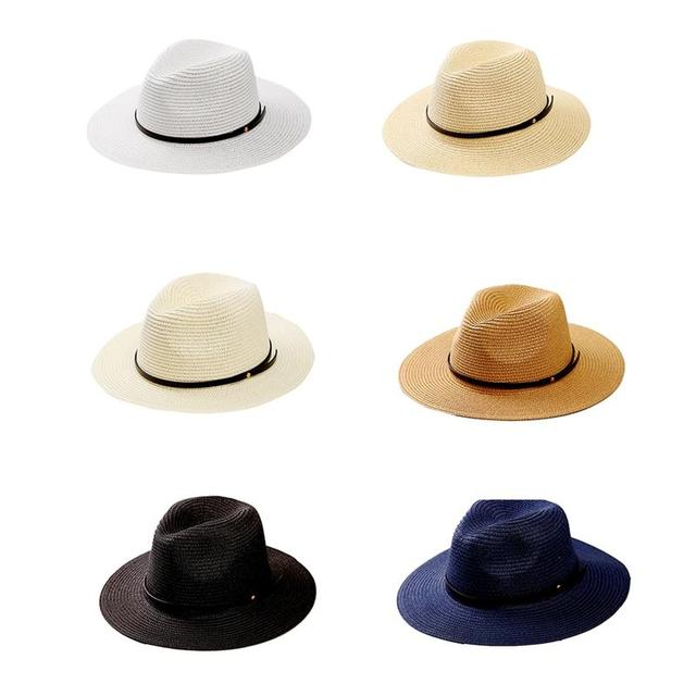 f0ab5ff56 US $4.7 5% OFF|New Summer Straw Hat Women Big Wide Brim Beach Hat Sun Hat  Foldable Sun Block UV Protection Panama Hat Bone Chapeu Feminino-in Sun  Hats ...