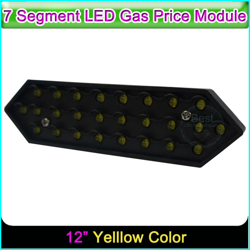 12 Yellow Color Digita Numbers Module LED Display Signs Advertising Board 7 Segment Of the Modules12 Yellow Color Digita Numbers Module LED Display Signs Advertising Board 7 Segment Of the Modules