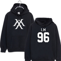 2017 new full MONSTA X kpop same Unisex wool hooded sweatshirts Outer k pop full MONSTA X im Hoodies long sleeve hooded clothes