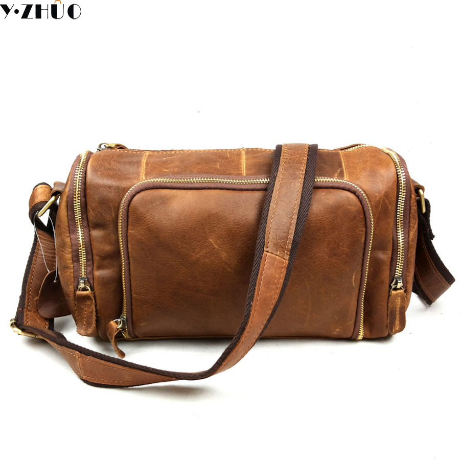 really cowhide man bags small travel bag genuine leather Single shoulder bags vintage men crossbody messenger bag