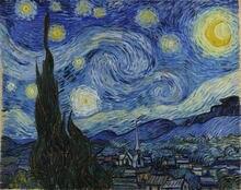 Картина на холсте Ван Гога рисование с изображением звездной