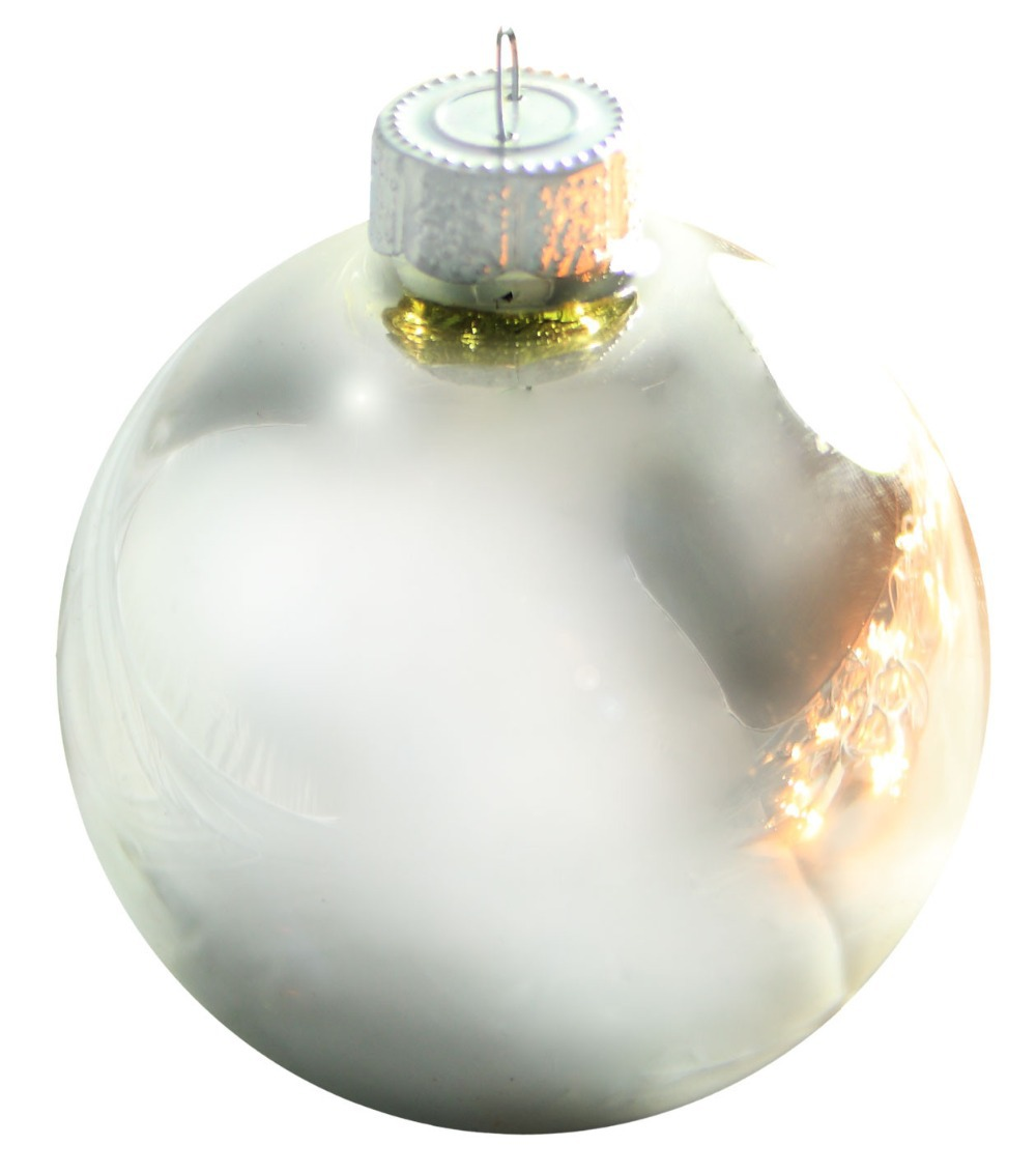 Glass globe ornaments - Free Shipping Event Party Bauble Ornaments Christmas Xmas Tree Glass Balls Decoration 80mm Silver Ball Ornament