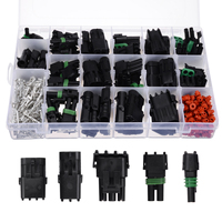 32 sets 20A Waterproof Automotive Electrical Wire Cable Connector Male and Female Connector Plugs Assortment for Automotive