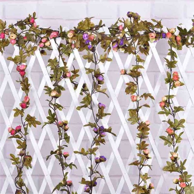 hanging garland artificial flowers for wedding home decoration silk