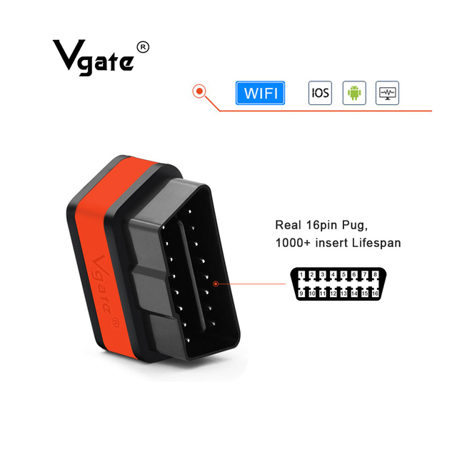 Vgate iCar2 Diagnostic tool ELM327 obd2 WIFI scanner for IOS iPhone/Android/PC elm 327 V2.1 OBD2 wifi  auto diagnostic tool scan