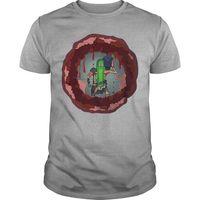 Pickle Rick Canhão Laser No Peito Camisa Dos Desenhos Animados t shirt homens Unisex Nova Moda camiseta Tamanho Solta top ajax 2018 engraçado t camisas|Camisetas| |  -