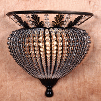 American living room Wall Lamps semicircle background wall aisle stairs Jane manual crystal lamp LU729330