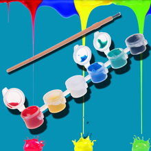 12/8 цветов с 1 Краски синий кисти в наборе акриловые Краски s для масла Краски ing ногтей одежда искусство цифровой DIY граффити пигмент