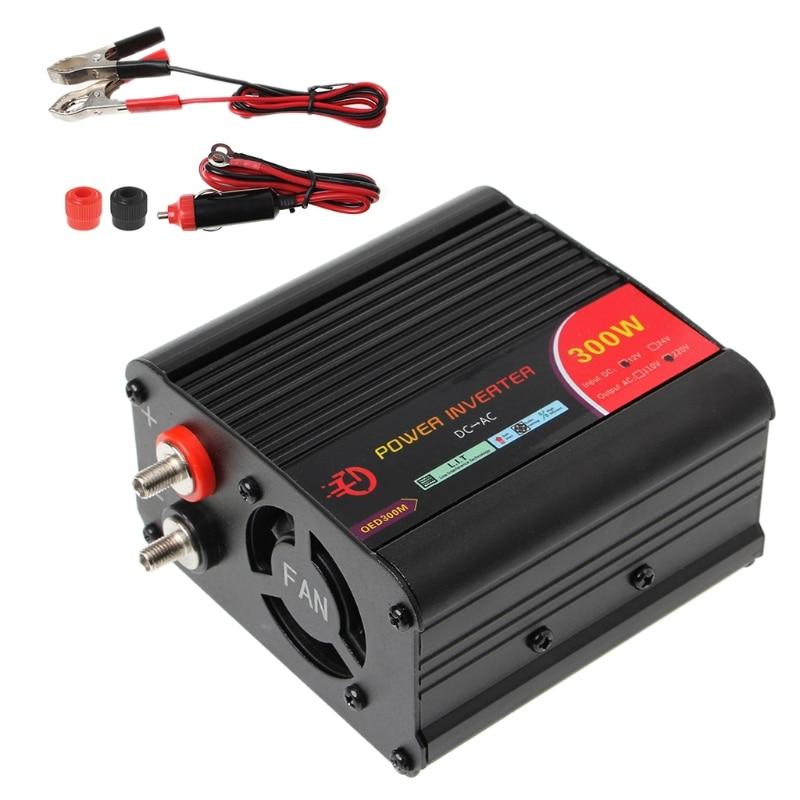 Nuevo 300 W/400 W/500 W/600 W convertidor inversor de corriente DC 12 V a 220 V AC coches inversor con adaptador de coche