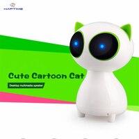 Multimedia Desktop Computer Speaker Mini Cartoon Cat Wired Stereo Speaker Portable Super Bass Music Player For