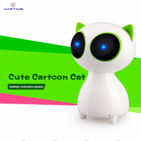 Multimedia Desktop Computer Speaker Mini Cartoon Cat Wired Stereo Speaker Portable Super Bass Music Player For