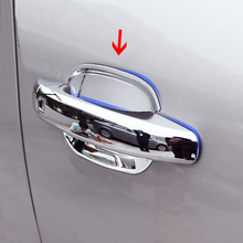 For Audi Q3 2013 2014 2015 ABS Chrome Side Car sticker Door Handle Bowl Frame decoration Cover Trim Car Styling accessories 4pcs abs chrome for ford explorer 2020 2021 car styling accessories 4pcs car door handle door protector handle bowl cover trim