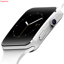 Espanson X6 Smart Watch Bluetooth Wearable Devices Smartwatch For apple iPhone Android Watch Support SIM Card Camera wristwatch