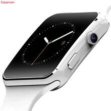 Espanson X6 Akıllı İzle Bluetooth Giyilebilir Cihazlar apple iPhone Için Smartwatch Android İzle Destek SIM Kart Kamera kol