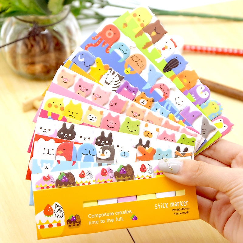 OfficiëLe Website Cartoon Dier Memo Pad Sticky Notes Leuke Panda Beer Zelfklevende Label Sticker Escolar Kawaii Briefpapier School Supplies