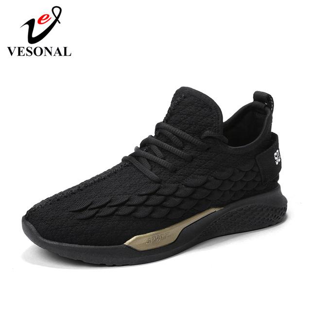 VESONAL 2019 Summer Tide shoes Lightweight Breathable Mesh Shoes Men Casual Comfortable Walking Male Sneakers Footwear 991