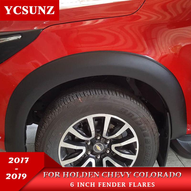Élargisseurs d'ailes Pour Holden Chevy Colorado 2017-2019 mudgurd Pour chevrolet colorado 2017 roue arc ailes Ycsunz
