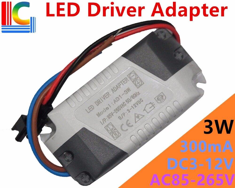 LED Driver Adapter 3W 5W 7W 12W 15W 24W 300mA Power Supply 85-265V CE Lighting Transformator LED Downlights External ABS housing tl19d24x1w 24w led driver white blue 85 265v