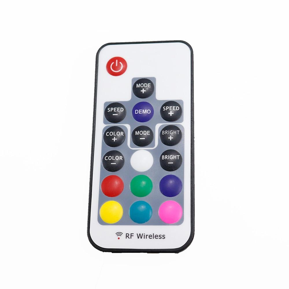 Controladores Rgb remoto 17key controlador sem fio Button Number : 17 Keys