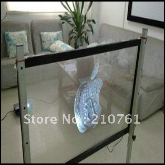1.524m*4m Transparent film rear projection screen film for vivid winodw shop display