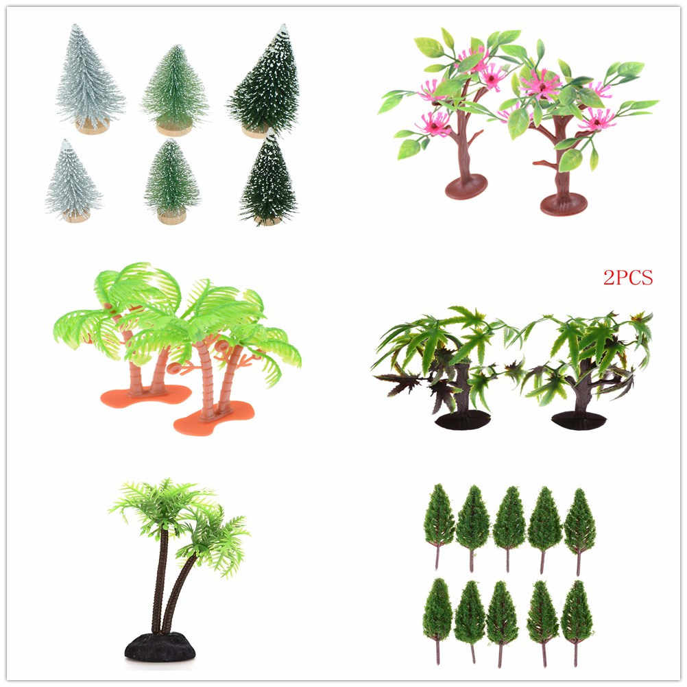 Plastic Miniature Model Trees For Building Trains Railroad Wargame Layout Scenery Landscape Diorama Accessories 10/3/2/1PCS