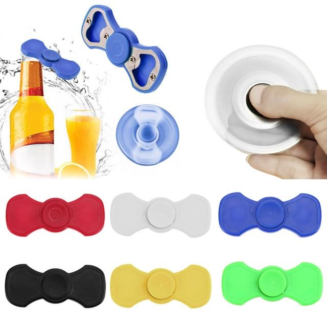 6 Colors Metal Bottle Opener Hand Spinner Tri Fid Spinner Beer