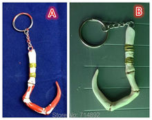 DOTA 2 Pudge weapon cosplay keychains DOTA2 heros TF pendant 2 styles Retail/Bulk free shipping