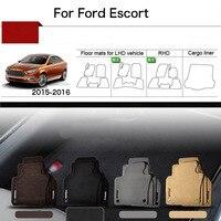5pcs 1 2 Thick Solid Nylon Interior Floor Carpet Mats For Ford Escort 2015 2016