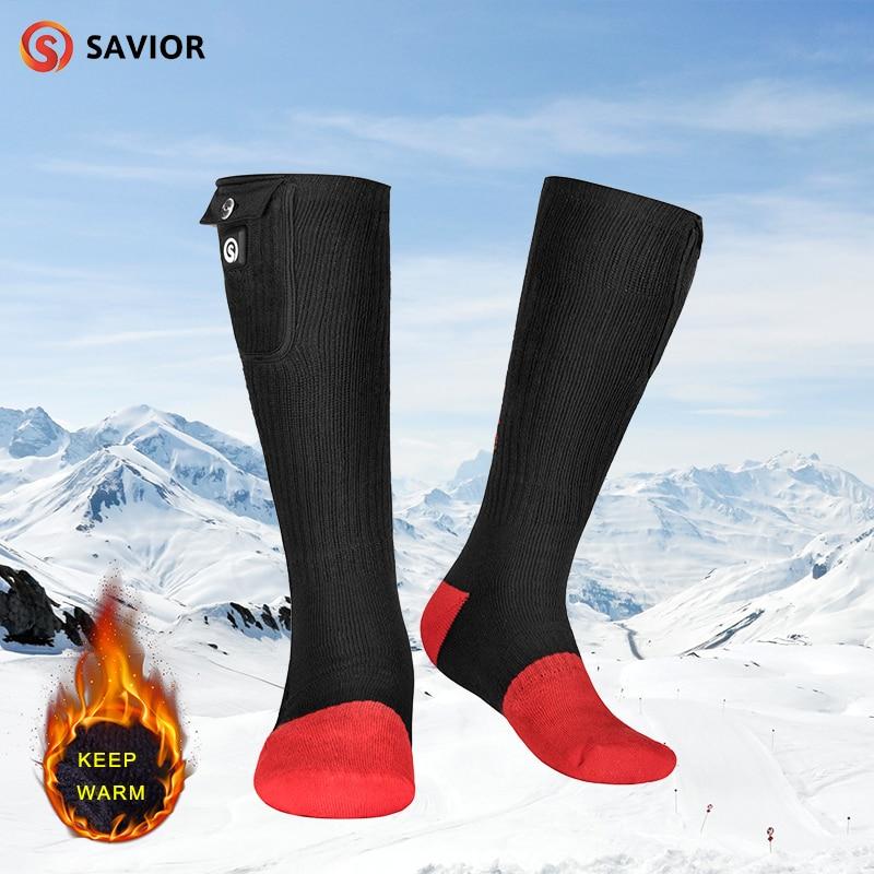 SAVIOR chaussettes chauffantes en fibre de carbone chaussettes de sport chaudes chaussettes de ski hiver pieds chauds équitation chaussettes chaudes pour hommes et femmes
