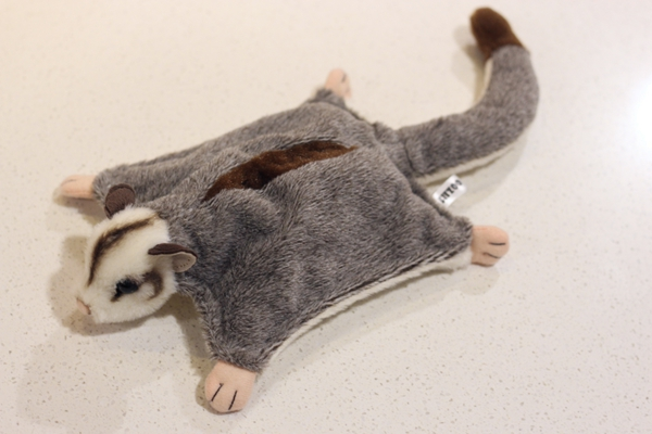 21cm Length Lifelike Sugar Glider Plush Toys Realistic Wild Animal Petaurus Breviceps Stuffed Toy Gifts For Kids