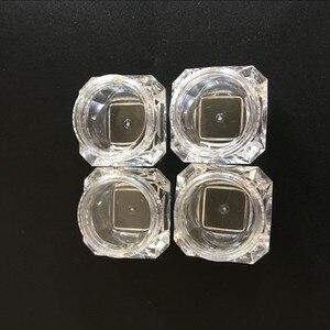 Image 3 - 100 pçs/lote 5g frascos de plástico transparente frascos creme forma diamante amostra garrafa 5ml 0.17oz garrafas vazias cosméticos recipiente bot01