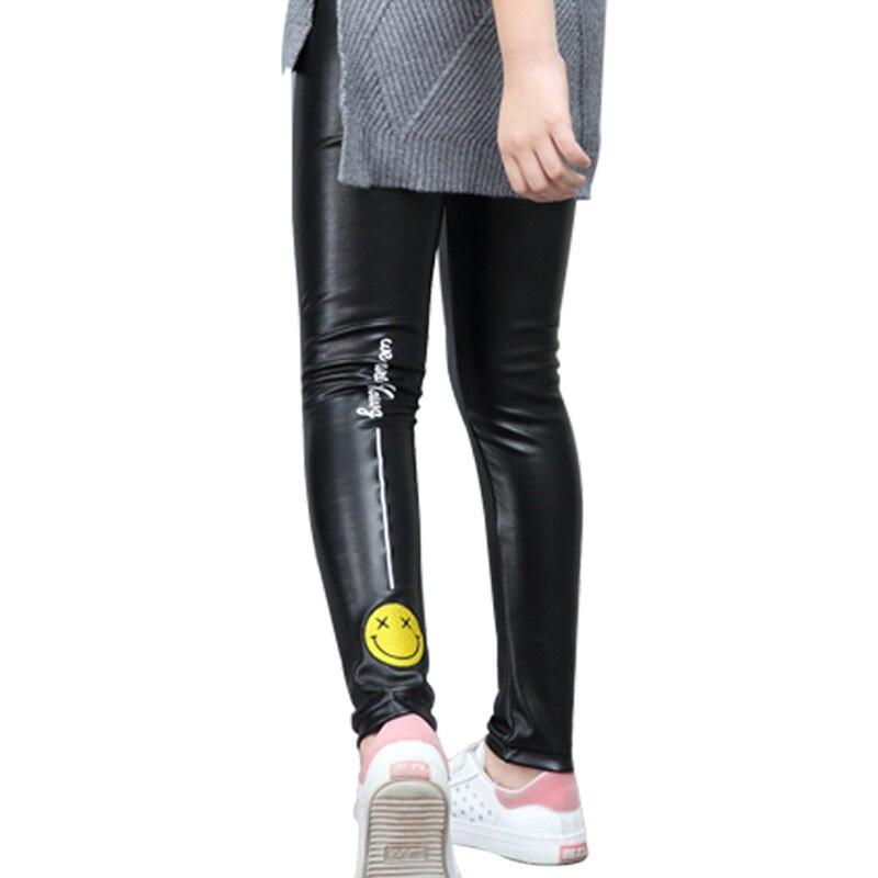 Travel snail legins girls winter pants for girls legging fille toddler leggings PU girls leggings pantalon nino 2017 winter New