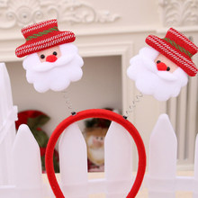3Pcs/set Christmas Lovely Decor Head Band Party Carnival Decorative Head Hoop Party Decoration (Old Man + Snow Man + Bear Type)(China)