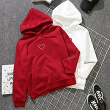 iimadfwiw sweatshirts for girls casual loose letters hooded faux fur hoodies children s clothing for autumn Korean Loose Heart Print Hoodies Pullover Hooded Sweatshirts Harajuku Style Lovers Casual Tops for Autumn