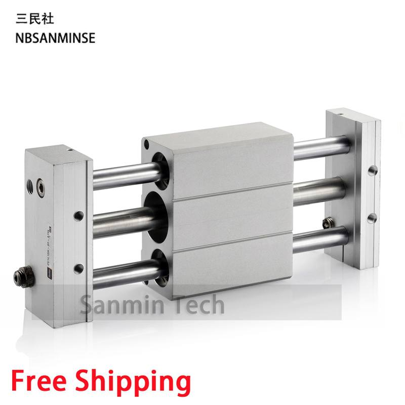 Magnetically Coupled Air Cylinder Slider CY1L SMC Type SMC Pneumatic Compressed Hydraulic Components Sanmin smc pneumatic components flat elliptic cylinder mdub25 10dz