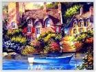 DIY Pintura Diamante Resina Praça Cheia Bordado Série Cenário Aldeia Sonho Sala de estar Decoração de Casa Europeia 65*50 cm