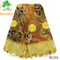 Zeal 2017 African Guipure Lace With Wax High Quality Nigerian French Tulle Lace Match Cotton Wax