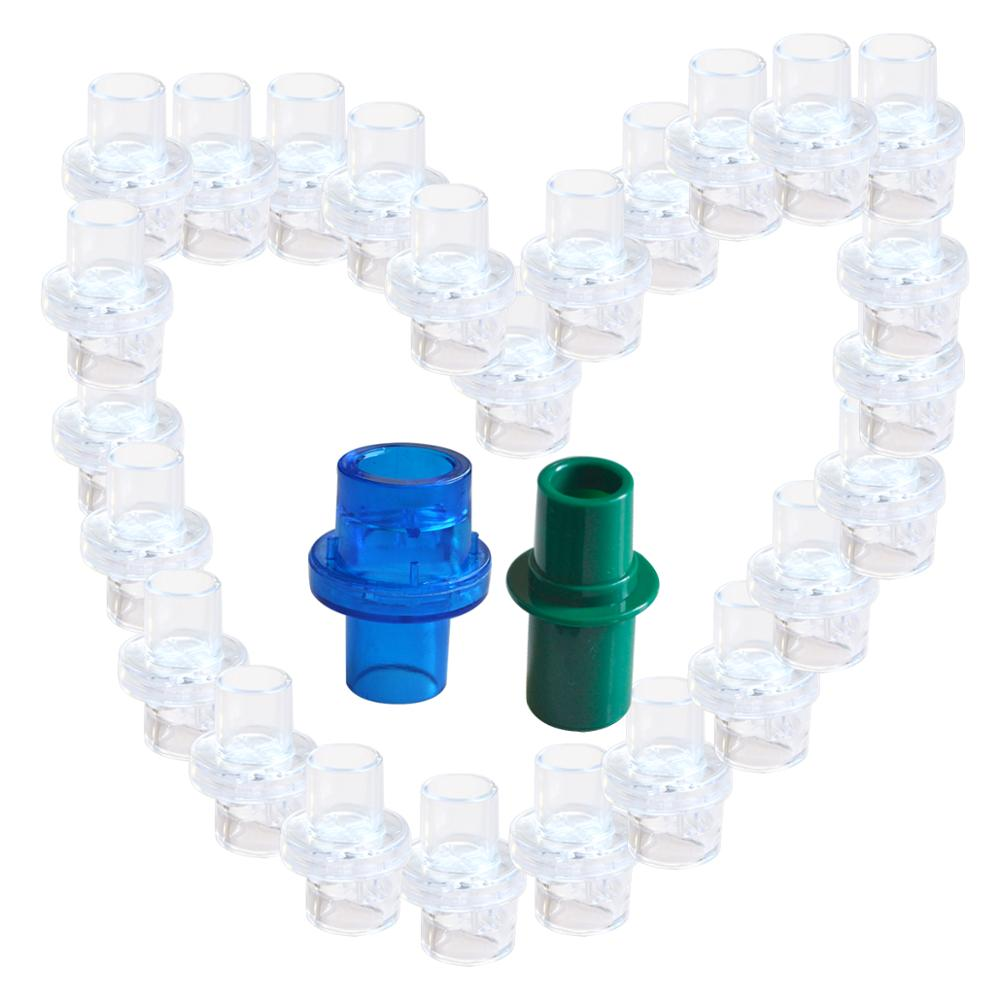 100Pcs Pack Oxygen Inlet Mouthpiece For CPR Resuscitator Mask Emergency Situation Rescue Kit For Health Care