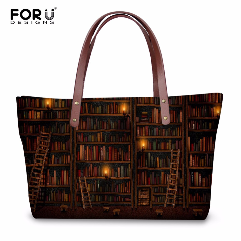 FORUDESIGNS Vintage Women Casual Messenger Bags Handbags Cute Book Shelf Sleepy Kitty Ca ...