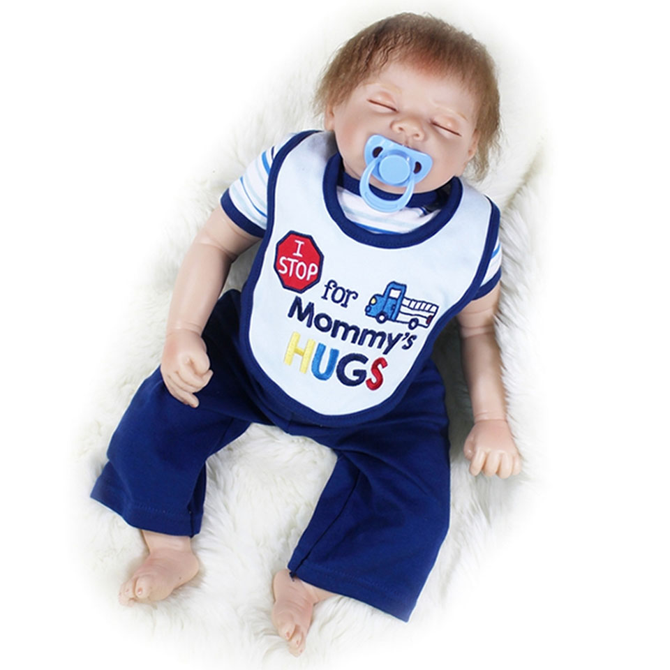 Soft Silicone Dolls Reborn Baby 22'' Cloth Body Baby Alive Doll Looks Like Sleeping bebe Special DIY Toys Kits Educational Gifts scream street looks like trouble