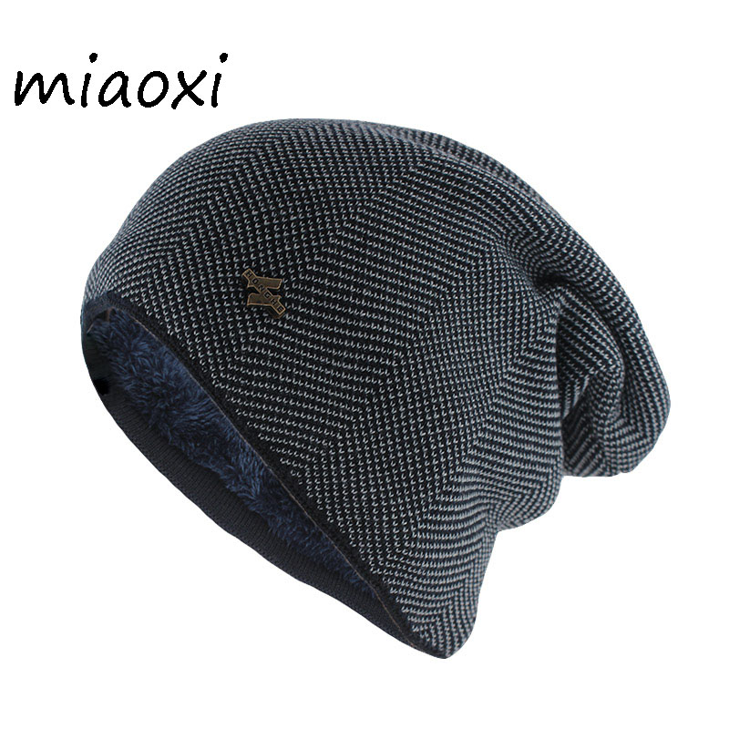 Новая мода для взрослых мужчин зимняя теплая шапка для унисекс вязаные повседневные шапочки Skullies хлопок шерсть шапки бренд уличная одноцветная Gorros