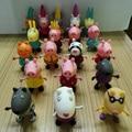 Envío libre juguetes de cerdo Una gama completa de cerdo Juguetes de Acción DEL PVC cifras Familiar Cerdo de Juguete Juguetes Del Cabrito Del Bebé Regalo de Cumpleaños brinquedo
