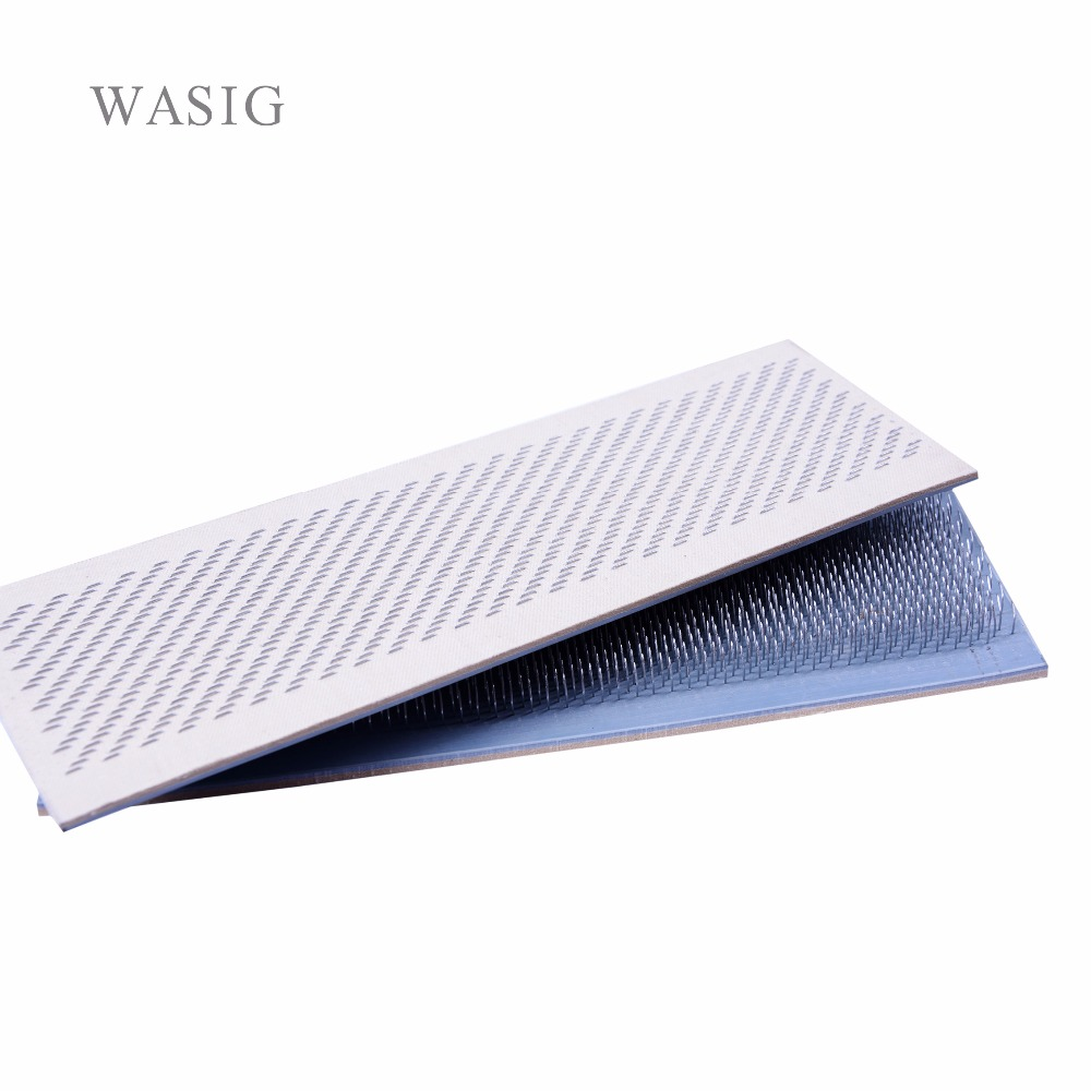 24x9cm Hair Holder Drawing Mat For Bulk Hair Extension Tools Hair Drawing Mat Hair Extensions Drawing Card(Skin Pad) With Needle