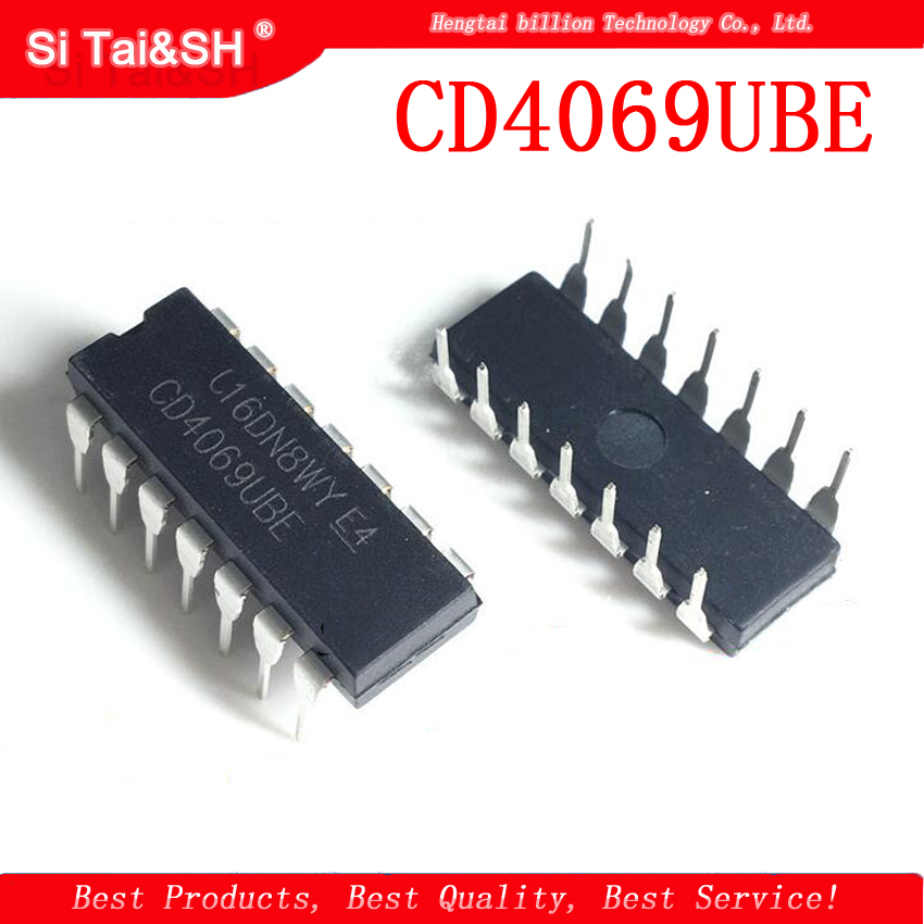 10pcs/lot CD4069UBE DIP-14 CD4069U CD4069 CD4069L CD4069BE IC