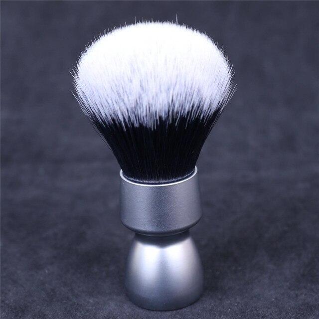 Pesante Manico In Metallo Capelli Sintetici Smoking Nodo Barba Pennello Da Barba per Gli Uomini